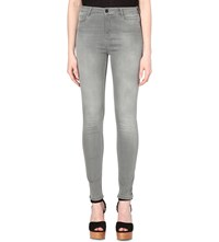 Maje Jawi Skinny High Rise Jeans Grey
