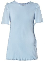 Raquel Allegra 'Bias' T Shirt Blue