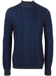 Giorgio Armani Turtle Neck Jumper Blue