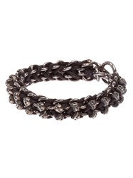 Tobias Wistisen Skull Bar Bracelet Brown