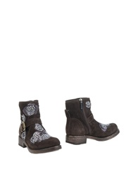 Giancarlo Paoli Ankle Boots Dark Brown