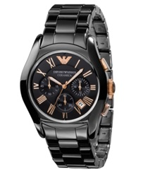 Emporio Armani Watch Men's Chronograph Black Ceramic Bracelet Ar1410