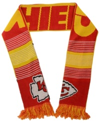 Forever Collectibles Kansas City Chiefs Reversible Split Logo Scarf Red
