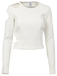 Rosie Assoulin Longsleeved Cut Out Top White