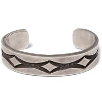 Foundwell Vintage Engraved Sterling Silver Cuff Silver