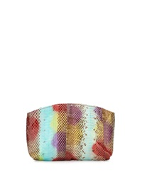 Beirn Small Python Cosmetic Pouch Multicolor