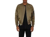 Stampd Men's Ma 1 Charmeuse Bomber Jacket Dark Green