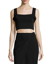 Nicholas Ponti Sleeveless Crop Top Black