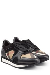 Burberry Shoes And Accessories Sneakers With Leather And Suede Multicolor