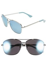 Women's Isaac Mizrahi New York 58Mm Aviator Sunglasses