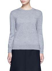 Marc Jacobs Jewel Button Back Wool Sweater Grey