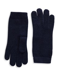 Portolano Luxe Knit Cashmere Blend Gloves Navy Blue