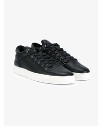 Filling Pieces Mountain Cut Leather Sneakers Black White