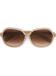 Nina Ricci Embellished Sunglasses Nude And Neutrals