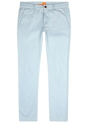 Boss Schino Pale Blue Slim Leg Cotton Chinos Grey