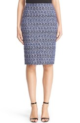 St. John Women's Collection Delphinium Tweed Pencil Skirt