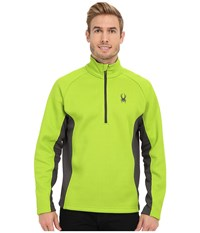 Spyder Outbound Half Zip Mid Weight Core Sweater Theory Green Polar Polar Men's Sweater