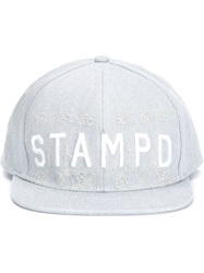 Stampd Distressed Denim Baseball Cap Grey