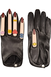 Finds Yazbukey X Causse Gantier Plexiglas Embellished Leather Gloves