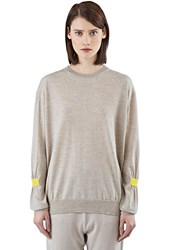 Stella Mccartney Gathered Sleeve Sweater Neutrals