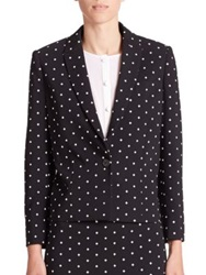 Givenchy Crosses Cady Cropped Blazer Black White