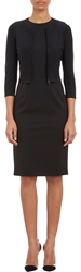Narciso Rodriguez Compact Knit Cropped Cardigan Black