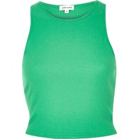River Island Womens Green '90S Ribbed Crop Top