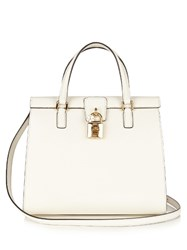 Dolce And Gabbana Lady Leather Tote White