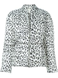Moncler Gamme Rouge Animal Print Padded Jacket Black