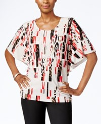 Jm Collection Printed Butterfly Sleeve Top Only At Macy's Geo Cheetah