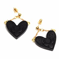 Rosita Bonita Sweet Heart Black Earrings