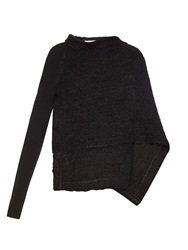 Givenchy Wrap Front Mohair Blend Cardigan
