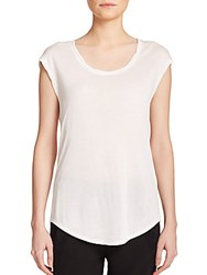 Vince Twisted Cap Sleeve Tee Off White