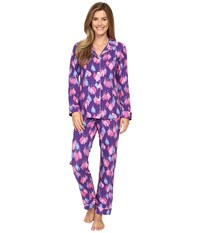 Bedhead Long Sleeve Classic Bottom Pajama Set Purple Belle Of The Ball Women's Pajama Sets