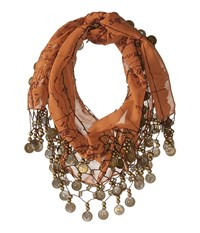 Patricia Nash Coin Scarf Rust Scarves Red