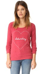 Chaser Saturday Love Tee Cardinal