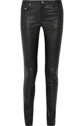 Saint Laurent Stretch Leather Skinny Pants Black