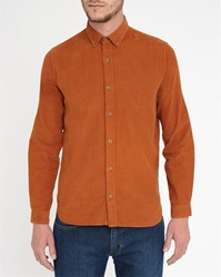 M.Studio Camel Emilien Needlecord Extra Slim Fit Shirt