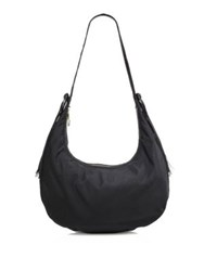 Elizabeth And James Zoe Large Nylon Hobo Bag Black