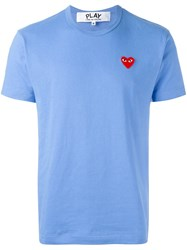 Comme Des Garcons Play Heart Patch T Shirt Blue