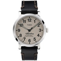 Timex Waterbury Watch Tan And Black Leather
