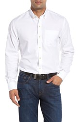 Cutter And Buck Men's Big Tall 'San Juan' Classic Fit Wrinkle Free Solid Sport Shirt White