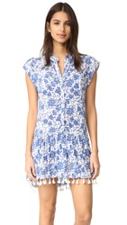 Poupette St Barth Heni Mini Dress Blue Poppy