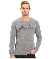 Alternative Apparel Graphic Champ Eco Grey Tree Graphic Men's Sweatshirt Gray