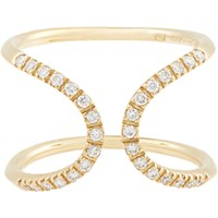 Roberto Marroni Women's Diamond And Gold Inverted Arch Ring No Color