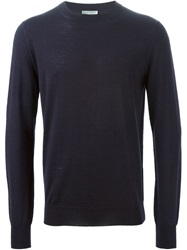 Christian Dior Dior Homme Fly Motif Embroidery Sweater Blue