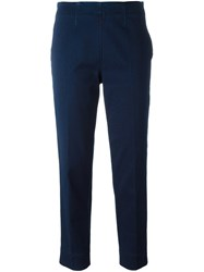 Piazza Sempione Ankle Length Trousers Blue