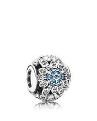 Pandora Design Pandora Charm Sterling Silver Cubic Zirconia And Crystal Snowflakes Moments Collection
