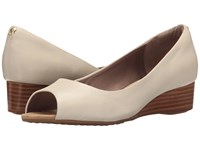 Hush Puppies Bryce Admire Off White Patent Leather Women's Wedge Shoes Beige