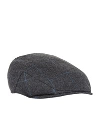 Christy Balmoral Tweed Flat Cap Unisex Dark Grey